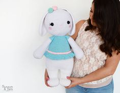 CROCHET PATTERN  Sophie the Friendly Rabbit  21.5 in./55 cm.