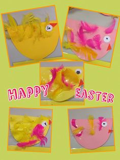 Easter cards made by the Early Years children. Eyfs Activities, Nursery Activities, Easter Activities, Autumn Activities, Bird Nursery, Happy Easter, Seasons, Nursery Ideas, Children