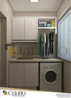 Lavandaria Laundry Decor, Laundry Room Bathroom, Laundry Room Organization, Laundry Room Design, Small Space Interior Design, Bathroom Interior Design, Closet Island, Laundry Room Inspiration, Small Apartment Decorating