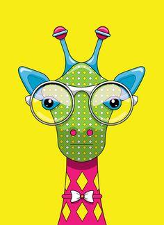 Giraffe With Glasses