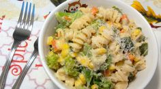 Veg Pasta in White Sauce