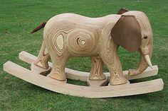 Wooden Rocking Elephant