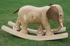 Wooden Rocking Elephant