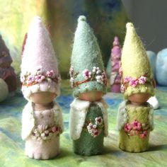 Spring Blossom Gnome Waldorf inspired Storytelling Faerie Elf Natural Dollhouse Doll. $24.00, via Etsy.