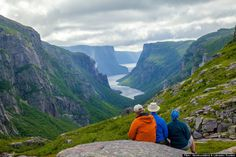 This is the Western Brook Pond in Gros Morne National Park in Newfoundland & Labrador, Canada Newfoundland Canada, Newfoundland And Labrador, Cross Canada Road Trip, Canada Trip, Canada Eh, Parc National, National Parks, Vancouver, Newfoundland