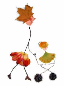 Leaf / nature collage - cute!