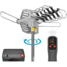 Ematic HD TV Motorized Outdoor Antenna with Range Outdoor Hdtv Antenna, Walmart Clearance, Walmart Online, Online Shopping Deals, Online Deals, Solar Power System, Power Cable, Remote, Shopping