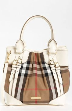 a29985e24ed0 Burberry  House Check - Small  Tote available at  Nordstrom Burberry  Handbags
