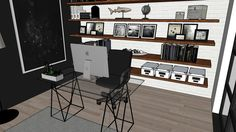 Large preview of 3D Model of Modern Home Office