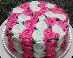 Bolo rosas