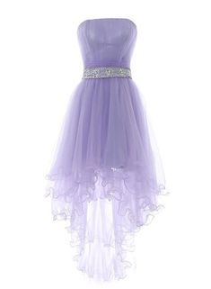 High Low Prom Dresses 2018 Lavender High Low Homecoming Dress Featuring Strapless Straight Across Ruched Bodice with Beaded Embellished Belt Cute Homecoming Dresses, High Low Prom Dresses, Short Dresses, Lavender Homecoming Dress, Purple Evening Gowns, Evening Dresses, Pretty Dresses, Beautiful Dresses, Amazing Dresses