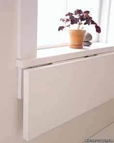 Windowsill Extension | Save Space in Bedrooms and Living Areas | Martha Stewart
