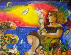 vasilis_sperantzas - ΑΝΟΙΧΤΟ ΕΛΛΗΝΙΚΟ ΣΧΟΛΕΙΟ Study Planner, Greek Art, Gallery, Painters, Artists, People, Student Planner, Roof Rack, People Illustration