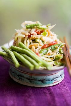 green papaya salad ส้มตำ