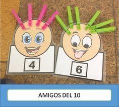 Hace un mes realicé un curso de ABN que me encanto y gracias a él he conocido nuevos materiales.   El material que os presento a continuació... Numbers Preschool, Learning Numbers, Preschool Learning, Kindergarten Math, Teaching Kids, Math For Kids, Fun Math, Math Games, Toddler Learning Activities