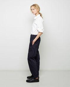 MHL BY MARGARET HOWELL | Denim Track Trouser | Shop at La Garçonne