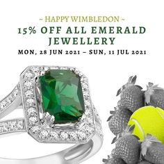 Happy #Wimbledon! To celebrate the exciting championships, we're offering a 15% #discount on all #TennisBracelets and #EmeraldJewellery on our website! Use code 'emerald15' at checkout and feel #glamorous this summer. - #diamonds #emeralds #jewellery #luxuryjewellery #emeraldring Bespoke Jewellery, Luxury Jewelry, Emerald Jewelry, Wimbledon, Jewelry Making, Coding, Engagement Rings, Emeralds, Feelings