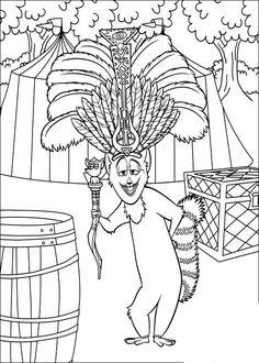 Coloriage Dessins. Dessins à imprimer et la couleur en ligne. Madagascar 24