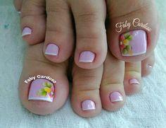 Unhas dos pés decoradas Pretty Nail Designs, Toe Nail Designs, Pretty Toe Nails, Sassy Nails, English Fun, Manicure E Pedicure, Pretty Hands, Diy Entertainment Center, Sexy Toes