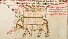 Matthew Paris Elephant from Parker MS 16 fol 151v - Chronica Majora - Wikipedia, the free encyclopedia