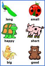 free printable  opposite games, free printable preschool worksheets, teaching reading skills