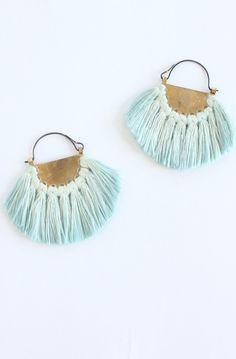 Hazel Cox - demi-eclipse silk Turquoise Earrings