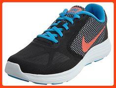 best sneakers 6f052 1e5c5 NIKE Womens Revolution 3 Running Shoe, BlackBright Mango-Metallic Silver,  5