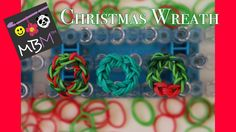 Rainbow Loom Band Christmas Wreath Charm - Easy Design for Beginners! Make your own Christmas Wreath Charm using Rainbow Loom Bands for a homemade Christmas Gift! This video shows how to use your Rainbow Loom Bands to make a very easy Christmas charm on Rainbow Loom Tutorials, Rainbow Loom Creations, Rainbow Loom Bands, Rainbow Loom Christmas, Simple Christmas, Christmas Wreaths, Rubber Band Crafts, Homemade Christmas Gifts, Loom Bracelets