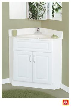 Do you have a small bathroom and want to earn a little extra space? A corner vanity will help you do just that!