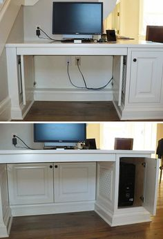 #Create Cabinet #Doors - 7 Smart Tips on How to Hide #Electronics and Cords ...