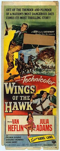 WINGS OF THE HAWK (1953) - Insert Movie Poster