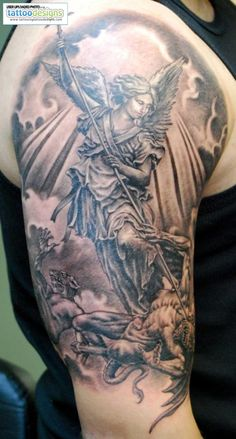 Higher Resolution Angel Tattoos St Michael Tattoo
