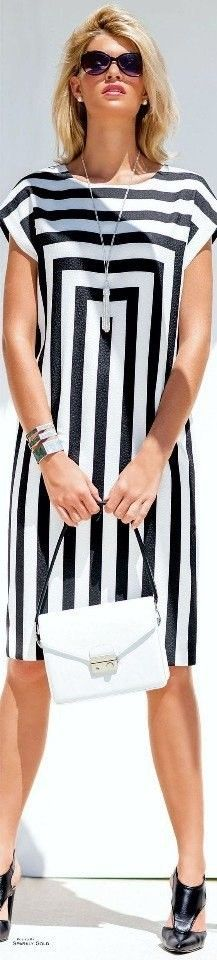59 Affordable Casual Style Ideas To Inspire – Fashion New Trends Cute Dresses, Beautiful Dresses, Short Dresses, Fitted Dresses, Stripes Fashion, White Fashion, Casual Summer Dresses, Casual Outfits, Outfit Summer