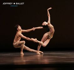 "Victoria Jaiani and Temur Suluashvili in ""Adagio"", The Joffrey Ballet, Chicago, Illinois, USA - Photographer Cheryl Mann"