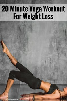 This 20 minute yoga workout for beginners is quick and fun and also helps with weight loss! http://avocadu.com/free-20-minute-yoga-workout-for-weight-loss/
