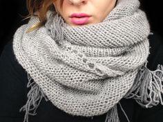Beautiful gray shawl