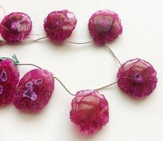 7 Pcs Pink Solar Quartz Solar quartz Beads by gemsforjewels