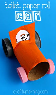 craft kids, roll car, toilet paper rolls, car crafts, kid craft