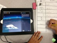 Barefoot Atlas App- Great way to virtually explore the world. We used this app for a literacy center while learning animal facts (FREE printable included)