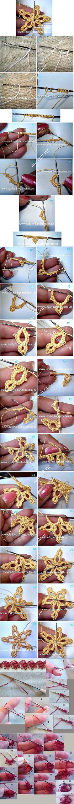 Форум Рукодельница - вышивка крестиком, вязание, рукоделие • Просмотр темы - Фриволите крючком - Мастер классы | Ирландское кружево. | Постила