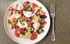 There are so many wonderful flavours and textures in this salad that every   mouthful tastes different. The creamy mozzarella is beautifully offset by   the blood orange.