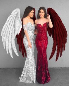 white or red angel