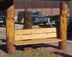 Wood Spirit Wizard Bench