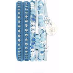 Machu Picchu a combination of 3 layered blue silver leather bracelets ❤ liked on Polyvore featuring jewelry, bracelets, leather jewelry, stacking bangles, silver jewellery, blue silver jewelry and blue bangles