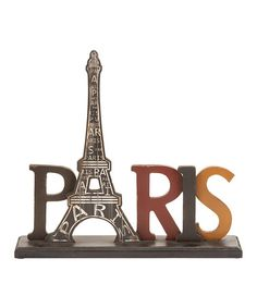 Take a look at this 'Paris' Eiffel Tower Sign by UMA Enterprises on #zulily today!
