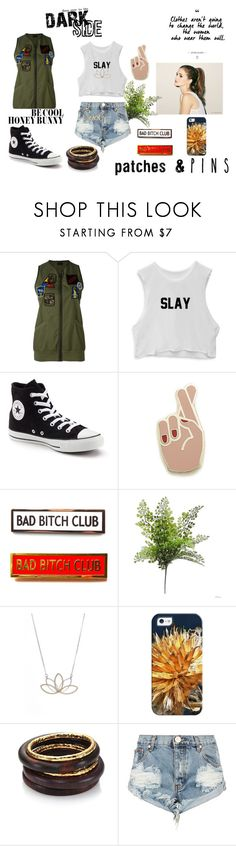 """""""Patches and Pins!"""" by geek-from-hell ❤ liked on Polyvore featuring Mr & Mrs Italy, Converse, Georgia Perry, Nashelle, Casetify, Nest, OneTeaspoon, Lanvin, Urban Decay and patchesandpins"""