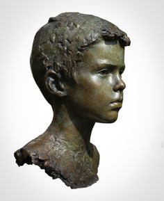 'Gabriel' Life-size bronze. By Mark Richards FRBS