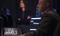 Co Sleeveless Textured A-Line Dress inspired by Emily Rhodes in Designated Survivor Season 1 Episode 14 | TheTake