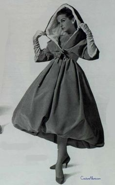 Givenchy, 1958 Couture Allure Vintage Fashion #dressmaking
