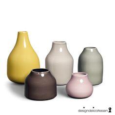 Lækkert vaser i støvefarver.